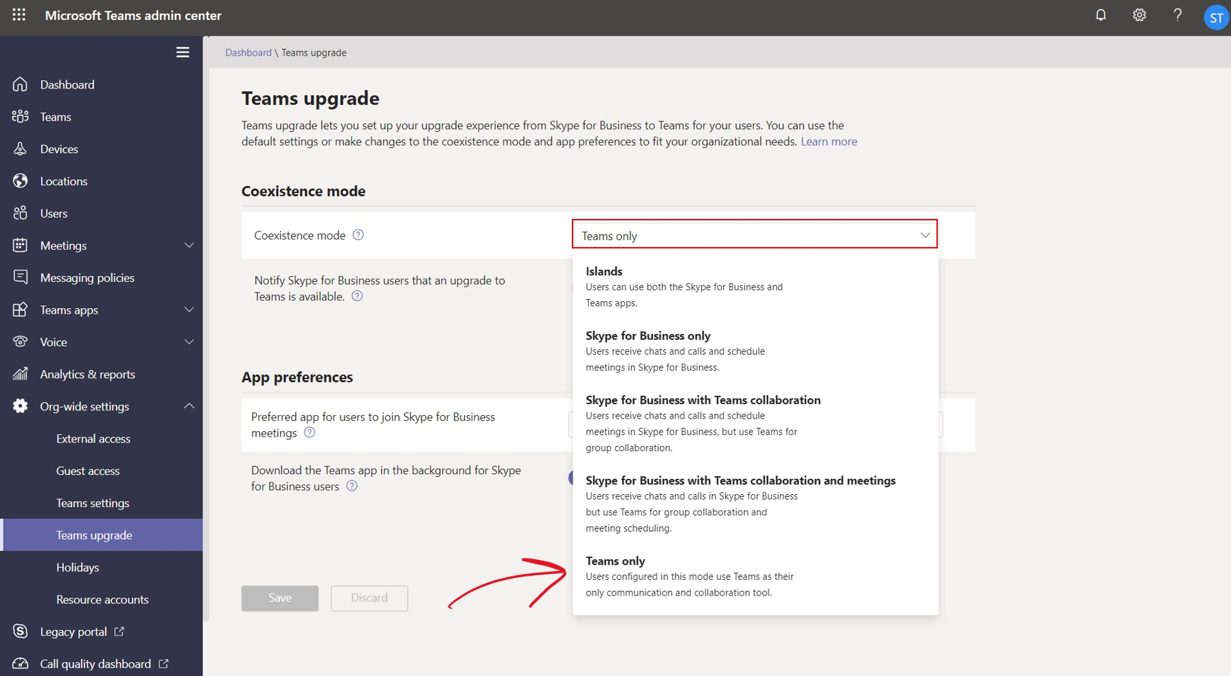 Settings for Teams or Skype for Business in Office 365 | © Storyals